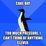 Cake Day Blues Penguin