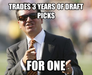 Trades 3 years of draft picks