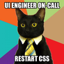 UI engineer on-call