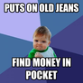 find money in pocket